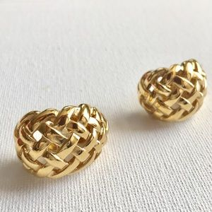 Givenchy Basket Weave Clip Earrings
